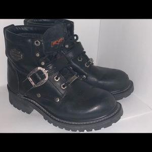 LEATHER Harley Davidson  combat boots Size 7